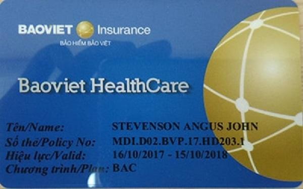 Thẻ bảo lãnh được phát hành khi khách hàng tham gia bảo hiểm sức khỏe