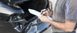 thủ tục bồi thường bảo hiểm ô tô