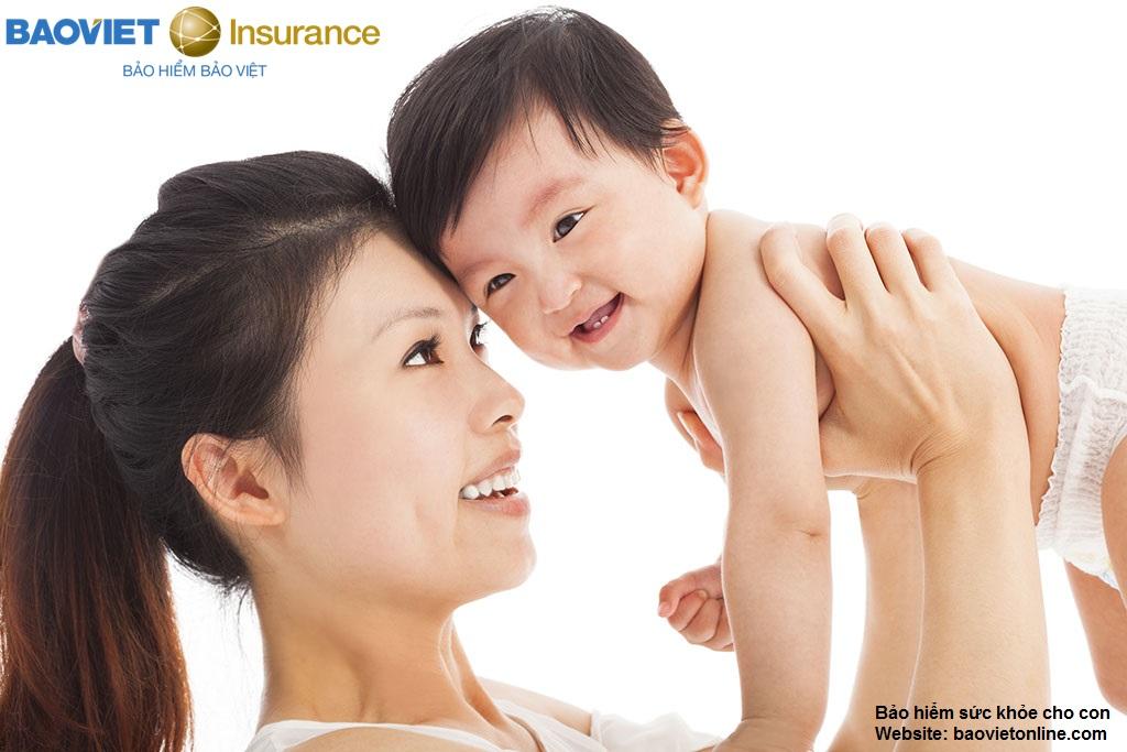 bảo hiểm sức khỏe cho con