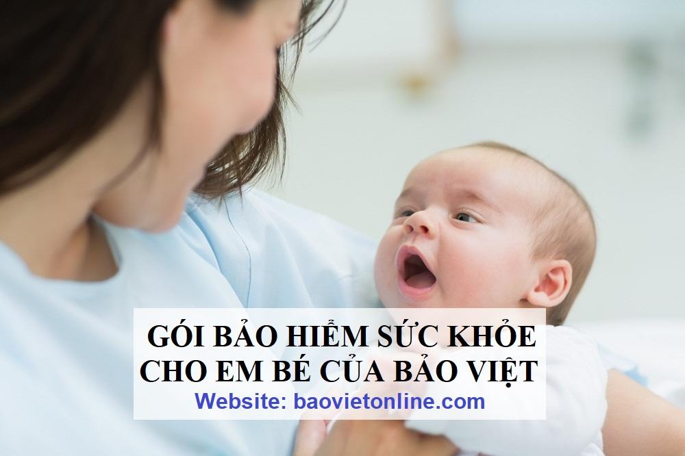 các gói bảo hiểm sức khỏe cho bé của bảo việt