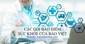 các gói bảo hiểm sức khỏe của Bảo Việt