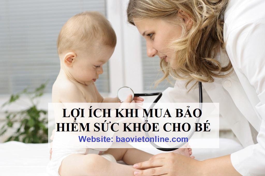 lợi ích khi mua bảo hiểm sức khỏe cho bé
