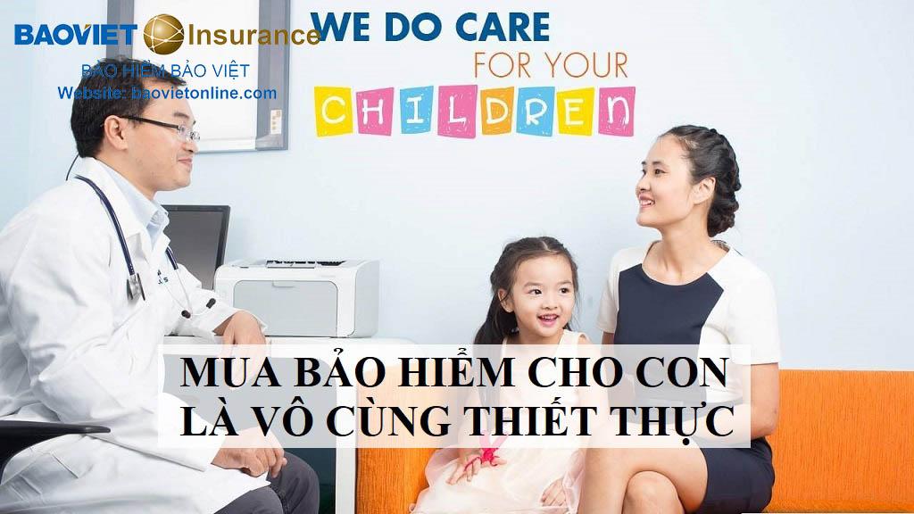 tính cần thiết của việc mua bảo hiểm cho con trẻ